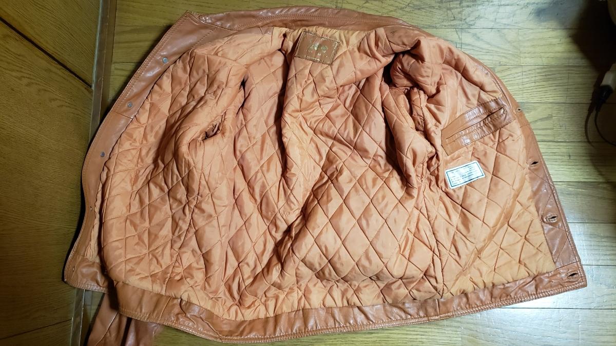 70年代 LEE レザージャケット ストームライダー タイプ / ビンテージ リー 70s オリジナル 革ジャン レア_画像3