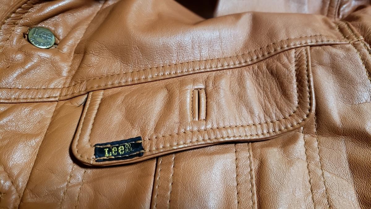 70年代 LEE レザージャケット ストームライダー タイプ / ビンテージ リー 70s オリジナル 革ジャン レア_画像7