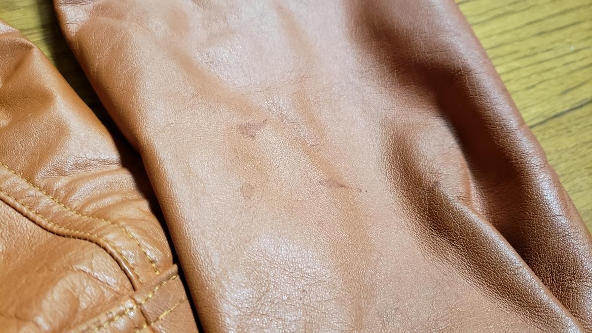 70年代 LEE レザージャケット ストームライダー タイプ / ビンテージ リー 70s オリジナル 革ジャン レア_画像9