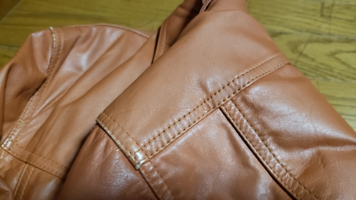 70年代 LEE レザージャケット ストームライダー タイプ / ビンテージ リー 70s オリジナル 革ジャン レア_画像8