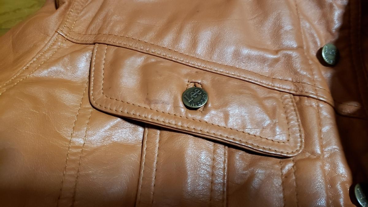 70年代 LEE レザージャケット ストームライダー タイプ / ビンテージ リー 70s オリジナル 革ジャン レア_画像6