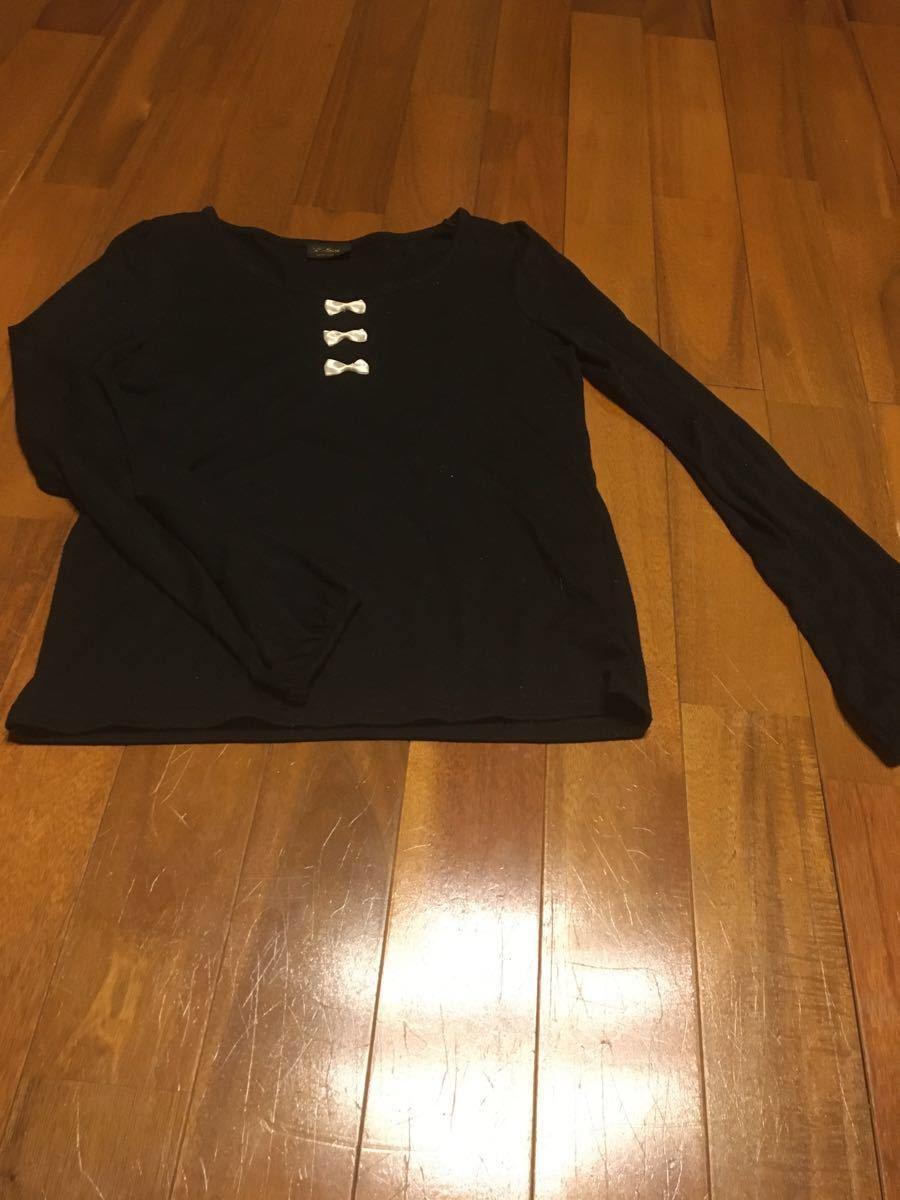リボン  カットソー   w closet  長袖Tシャツ