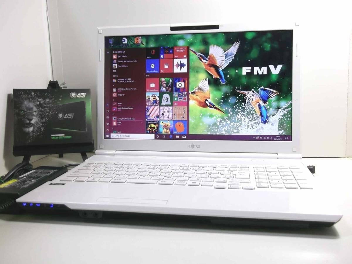 【新品 SSD搭載 】使用頻度少 美品 ☆高機能 インテル Dual Core ☆最新Windows10/ Bluetooth/ Blu-ray(BDXL)/ 最新Office2019/ USB3.0_【新品 SSD搭載 】使用頻度少 美品