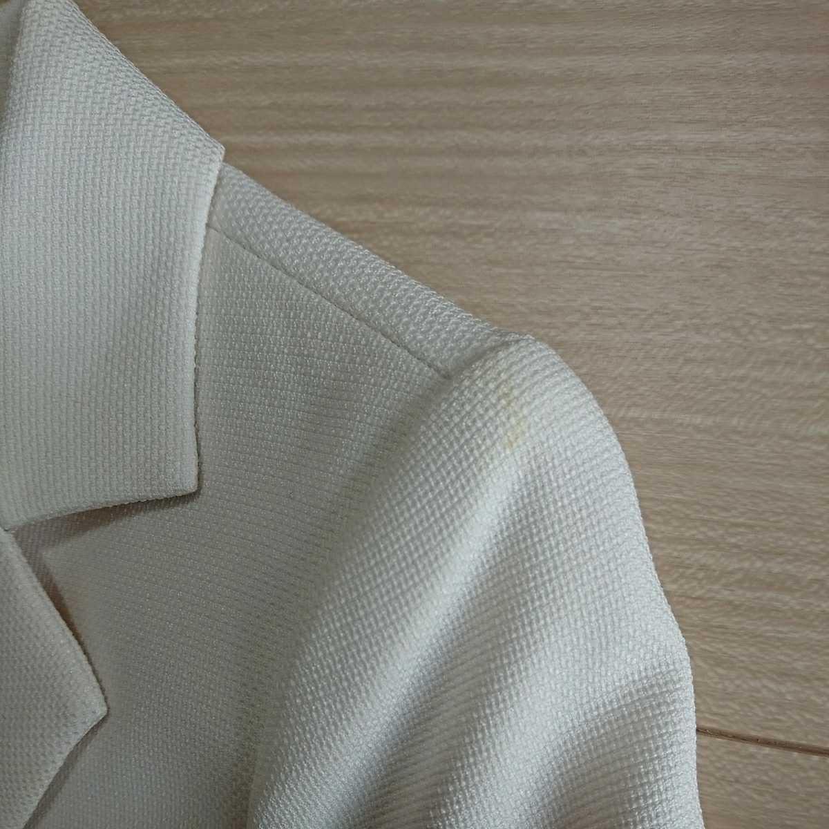 送料込み フォーマルスーツ 7号 アイボリー ジャケット スカート ベージュ シフォン ワンピース 3点セット 入学式 七五三 結婚式 クーポン_画像6