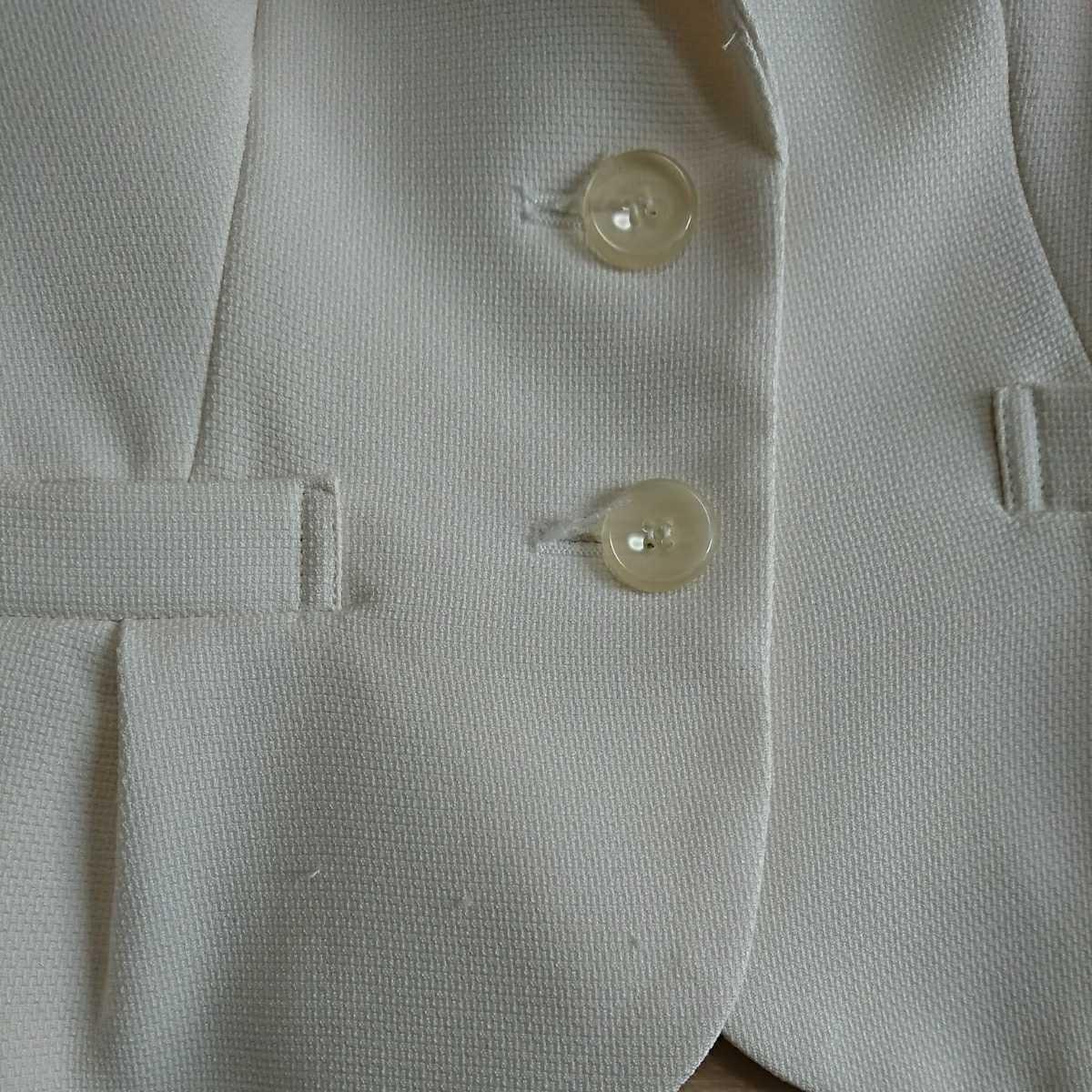 送料込み フォーマルスーツ 7号 アイボリー ジャケット スカート ベージュ シフォン ワンピース 3点セット 入学式 七五三 結婚式 クーポン_画像5
