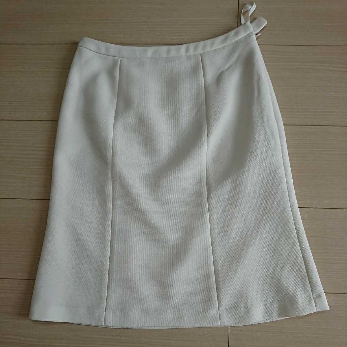 送料込み フォーマルスーツ 7号 アイボリー ジャケット スカート ベージュ シフォン ワンピース 3点セット 入学式 七五三 結婚式 クーポン_画像3