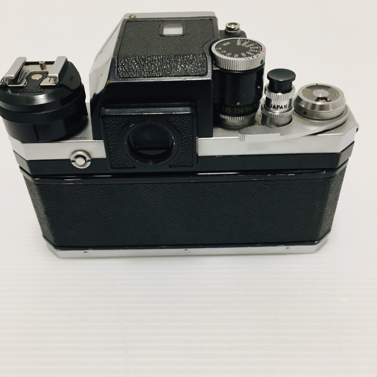 【動作未確認】Nikon F シルバー フィルムカメラ national3650 フラッシュ、レンズ付 NIKKOR-S 1:1.4 ジャンク_画像5