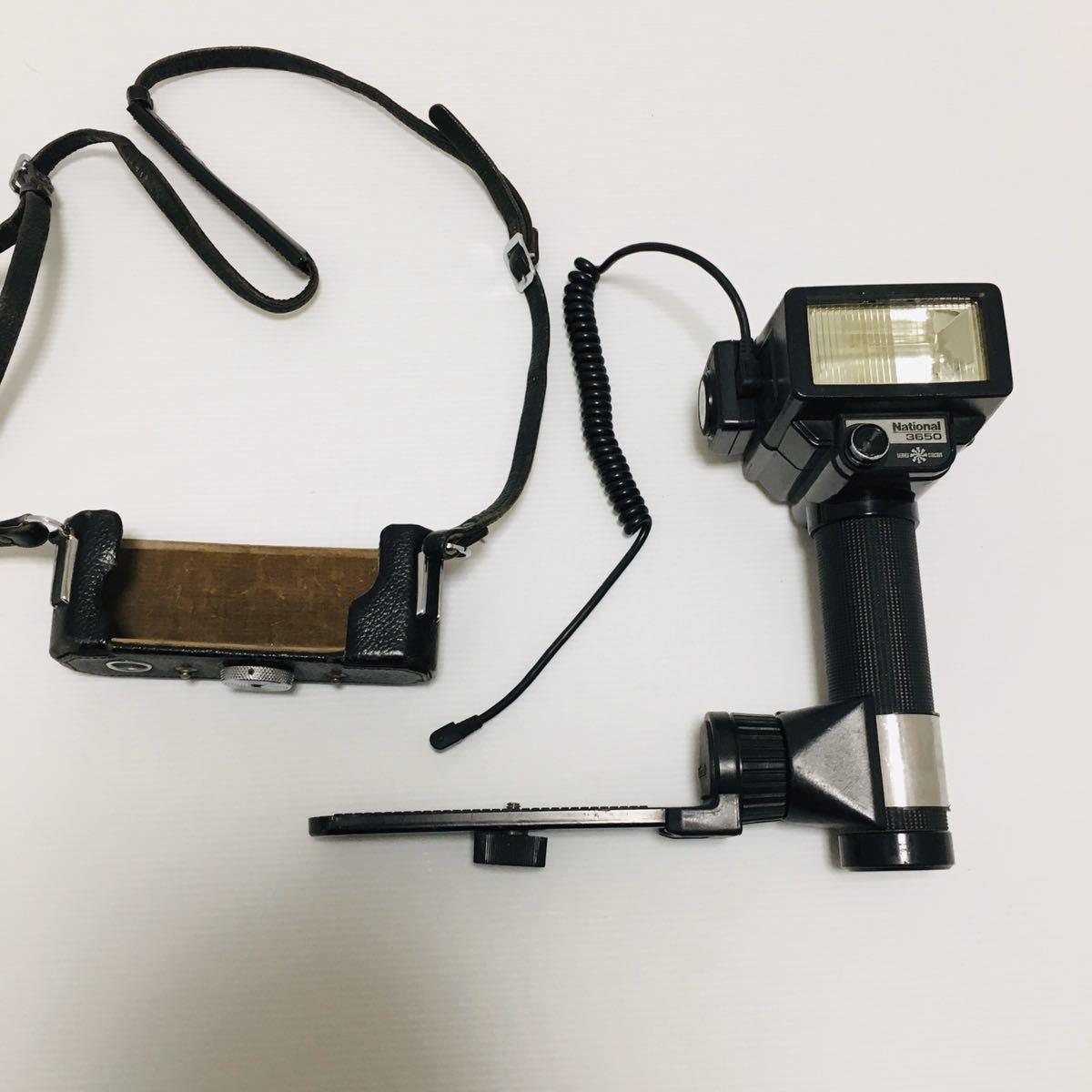 【動作未確認】Nikon F シルバー フィルムカメラ national3650 フラッシュ、レンズ付 NIKKOR-S 1:1.4 ジャンク_画像9