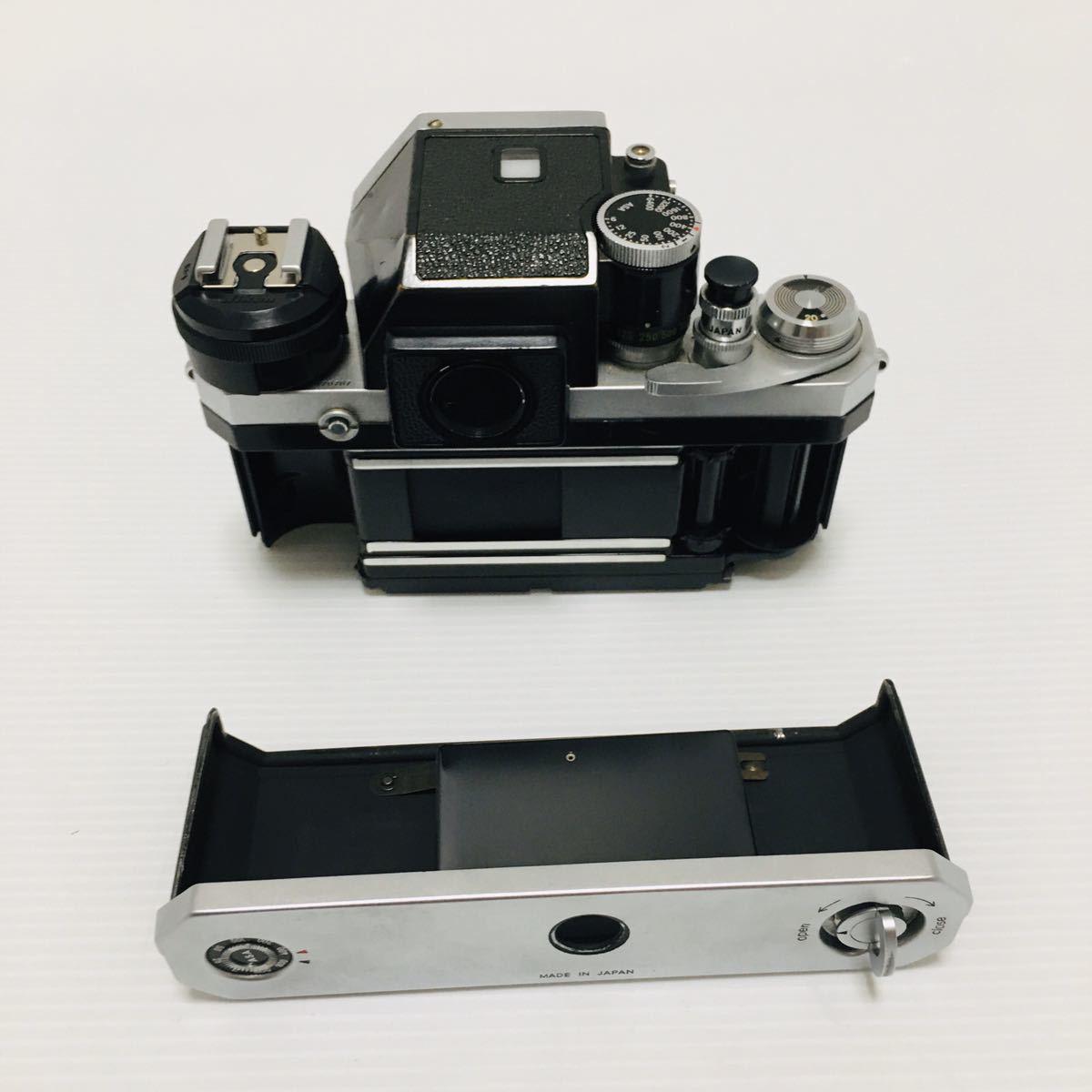 【動作未確認】Nikon F シルバー フィルムカメラ national3650 フラッシュ、レンズ付 NIKKOR-S 1:1.4 ジャンク_画像8