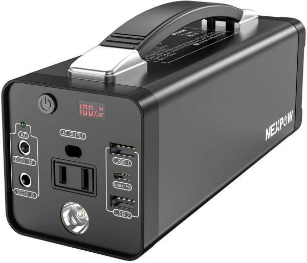 【新品・未使用】ポータブル電源 大容量48000mAh/178Wh 蓄電池 家庭用 PSE認証済 純正弦波 四つの充電方法 AC150W/DC/USB /Type-C出力_画像1