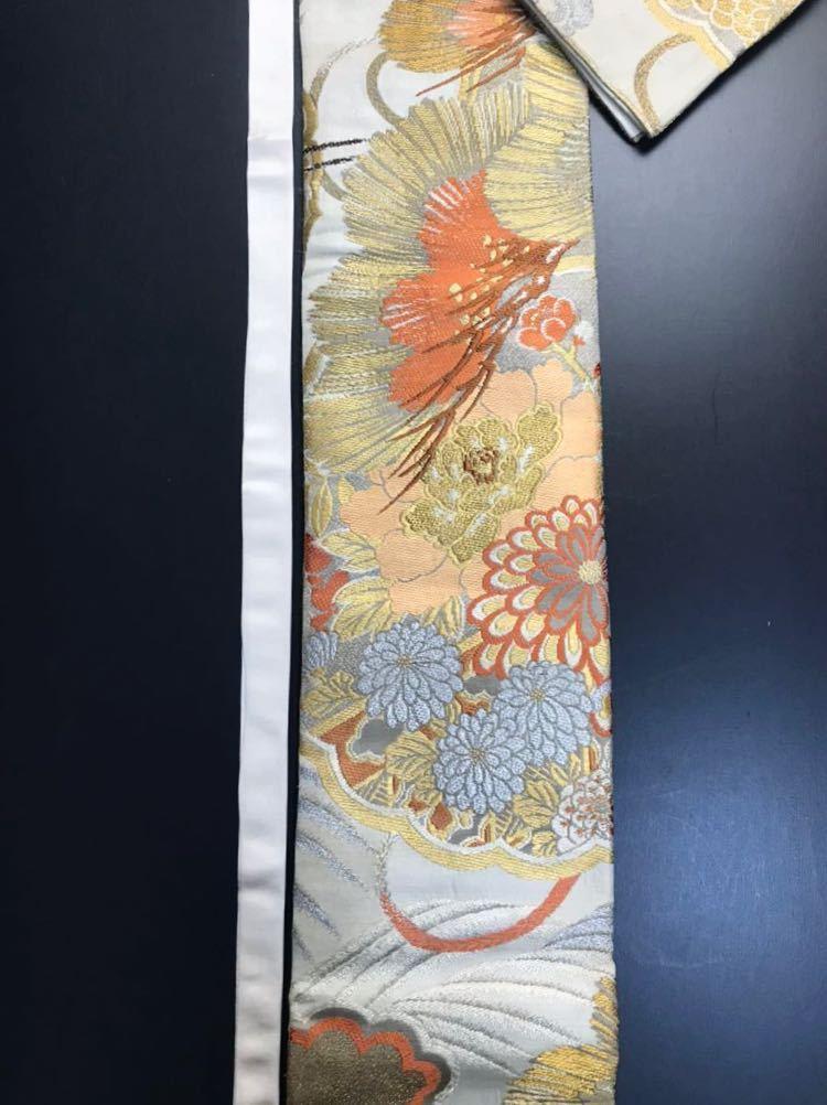限定4本 日本刀 太刀 刀 刀袋 豪華 金彩 鶴紋 職人ハンドメイド 100% 正絹使用 一点物 c-2_画像7