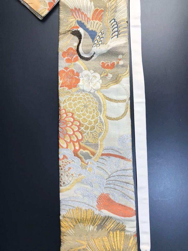 限定4本 日本刀 太刀 刀 刀袋 豪華 金彩 鶴紋 職人ハンドメイド 100% 正絹使用 一点物 c-2_画像3