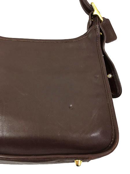 古着 USA製 OLD COACH コーチ 本革 レザー ホーボー ショルダー バッグ 中型 茶 雑貨 古着_画像4