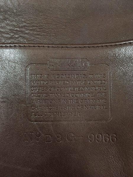 古着 USA製 OLD COACH コーチ 本革 レザー ホーボー ショルダー バッグ 中型 茶 雑貨 古着_画像8