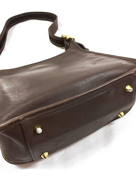 古着 USA製 OLD COACH コーチ 本革 レザー ホーボー ショルダー バッグ 中型 茶 雑貨 古着_画像5