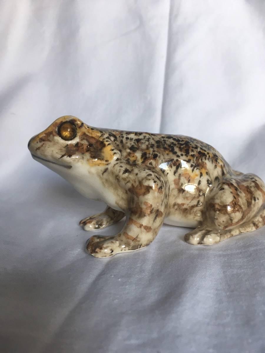 新品 1K かえる サイズ1 frog or toad レア カエル イギリス Winstanley Cat ケンジントン ウインスタンレイ フロッグ 陶器 レア_画像2