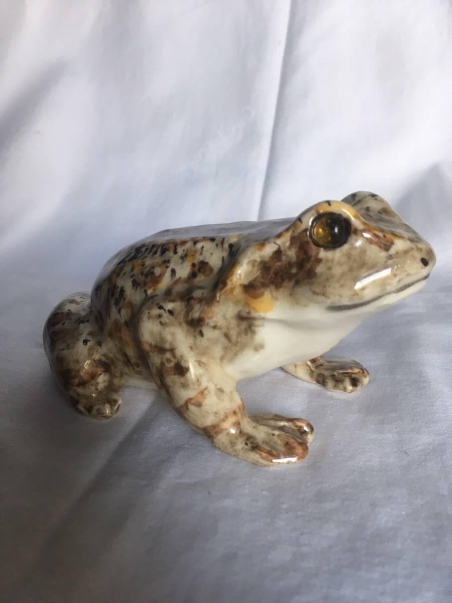 新品 1K かえる サイズ1 frog or toad レア カエル イギリス Winstanley Cat ケンジントン ウインスタンレイ フロッグ 陶器 レア_画像4