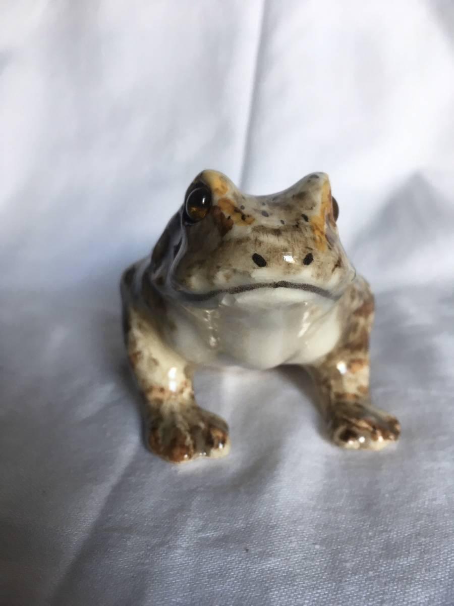 新品 1K かえる サイズ1 frog or toad レア カエル イギリス Winstanley Cat ケンジントン ウインスタンレイ フロッグ 陶器 レア_画像3