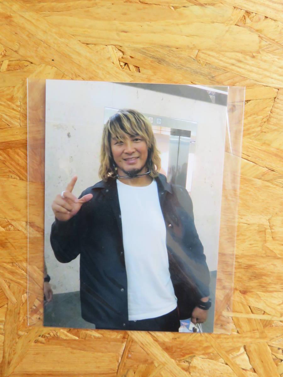 <限定品>新日本プロレス IWGPヘビー ローソン 棚橋弘至 直筆サイン 写真付き アクリルキーホルダー GO.ACE! 新品 激レア_その時の写真付き。。