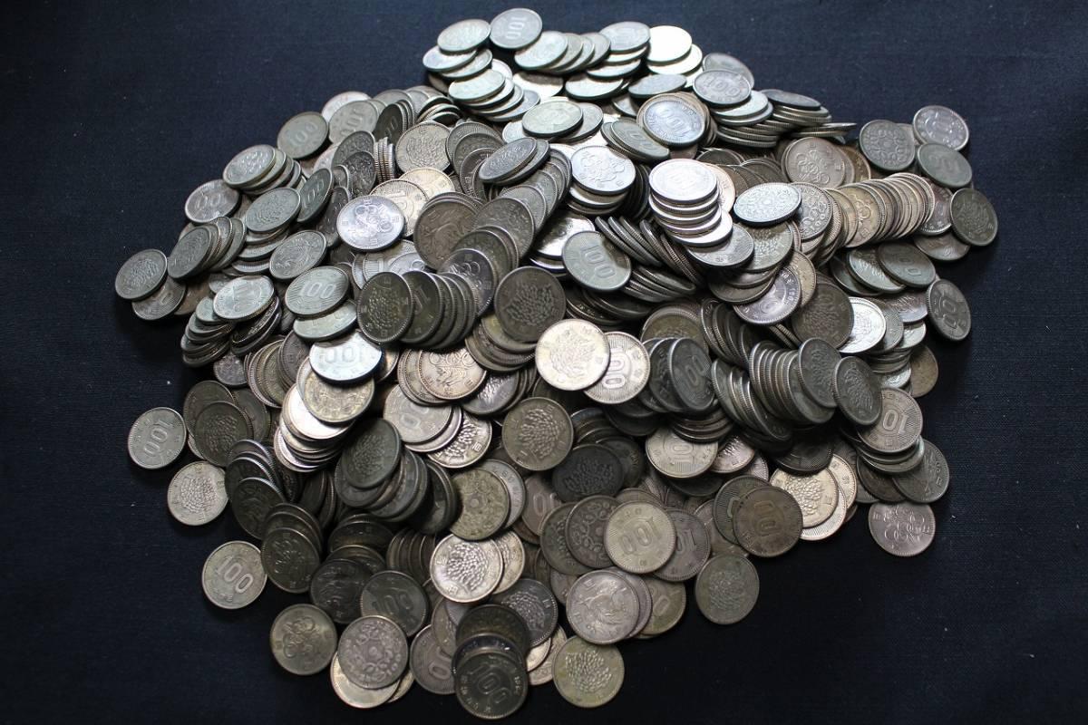 6古u02431E 旧 100円 銀貨 1000枚 東京オリンピック 鳳凰 稲穂 記念硬貨 昭和