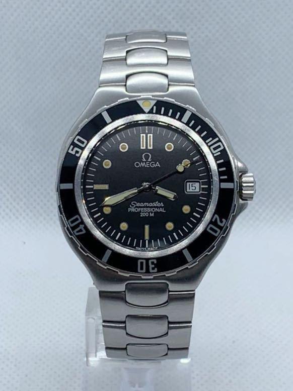 1円~ OMEGA オメガ】シーマスター 200M プロフェッショナル デイト スイス製 QZ メンズ腕時計 稼働品