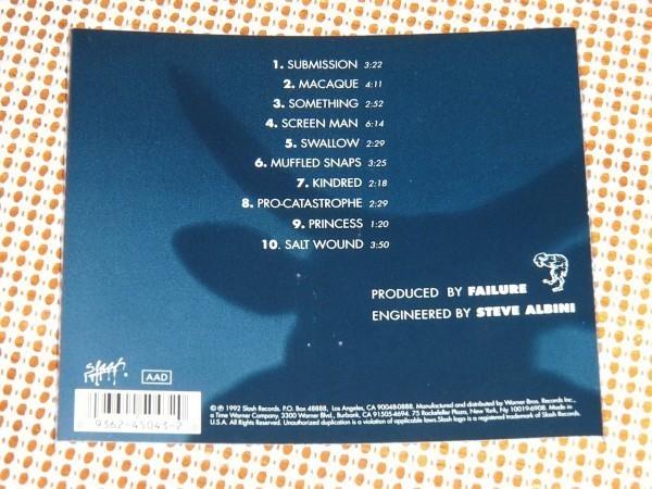 廃盤 Failure フェイリュア Comfort / Ken Andrews (Year Of The Rabbit)+ Greg ( Autolux )グランジ良バンド レア1st Steve Albini 参加