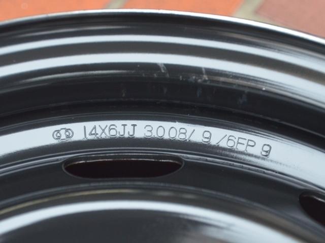 14インチ トヨタ アリオン 純正スチールホイール4本セット 14X6.0J PCD 100 5穴 +45 綺麗に洗浄 ゴムバルブ新品交換済み_画像7