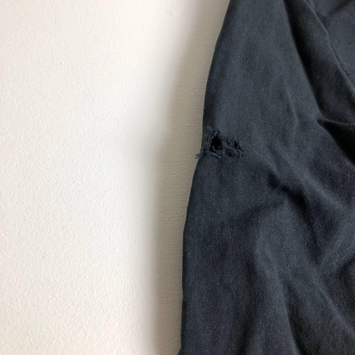 ★YD4952 人気ブランド格安放出! Polo Ralph Lauren ポロ ラルフローレン ラルフ 後染め 刺繍ロゴ 長袖 シャツ ボタンダウンシャツ 黒 L★_画像4