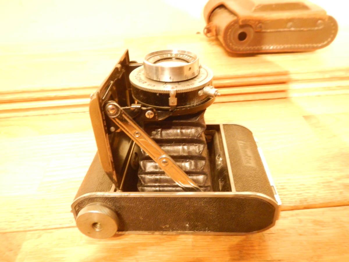 送料込 ミノルタMinolta 蛇腹式 中版カメラKONAN-FLICKER レンズchiyoko promar.sⅡ1:3.5f=75mm 中古現状_画像8