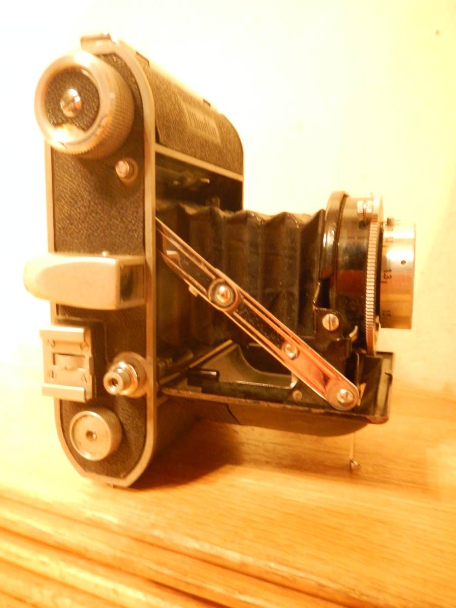 送料込 ミノルタMinolta 蛇腹式 中版カメラKONAN-FLICKER レンズchiyoko promar.sⅡ1:3.5f=75mm 中古現状_画像5