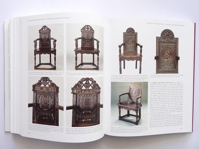洋書◆オーク材の家具写真集 本 アンティーク 椅子 チェア テーブル チェスト ほか_画像9