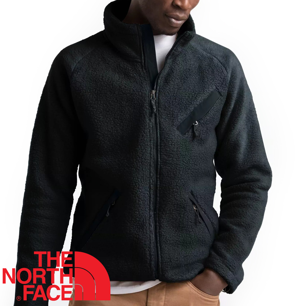 【新品本物 USA購入】THE NORTH FACE ノースフェイス ■ Cragmont Fleece ■ ブラック / L ■シェルパ フリースジャケット 海外限定_画像1