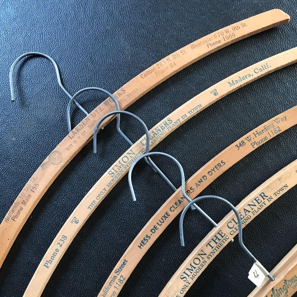 ハンガー セット アメリカ ビンテージ 古着 アンティーク USA 店舗什器 まとめて ジャンク 40s 50s 60s ウッド 木製 家具 4_画像2