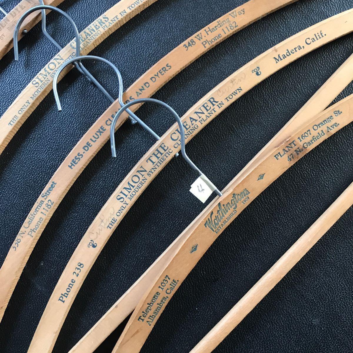 ハンガー セット アメリカ ビンテージ 古着 アンティーク USA 店舗什器 まとめて ジャンク 40s 50s 60s ウッド 木製 家具 4_画像3