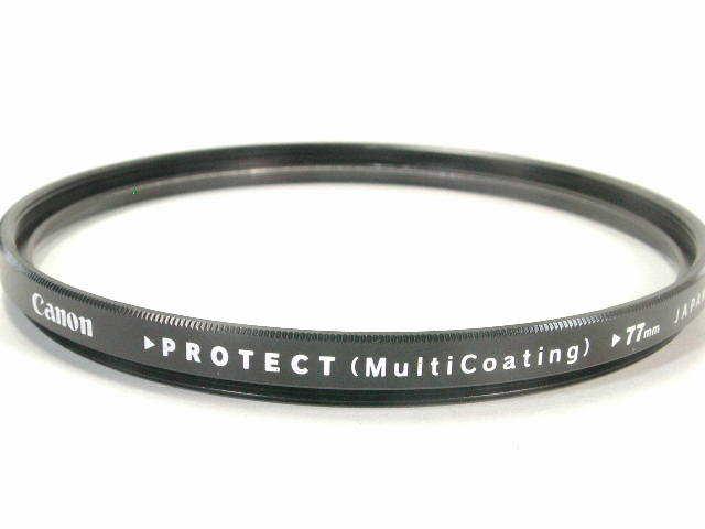 キャノン PROTECT FILTER 77mm径   (( CANON プロテクトフィルター