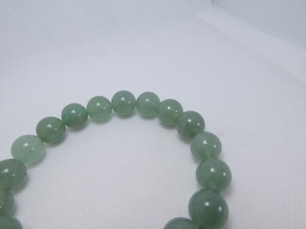 喜心-グリーンアベンチュリン10mm-内径16cm-天然石ブレスレット_画像3