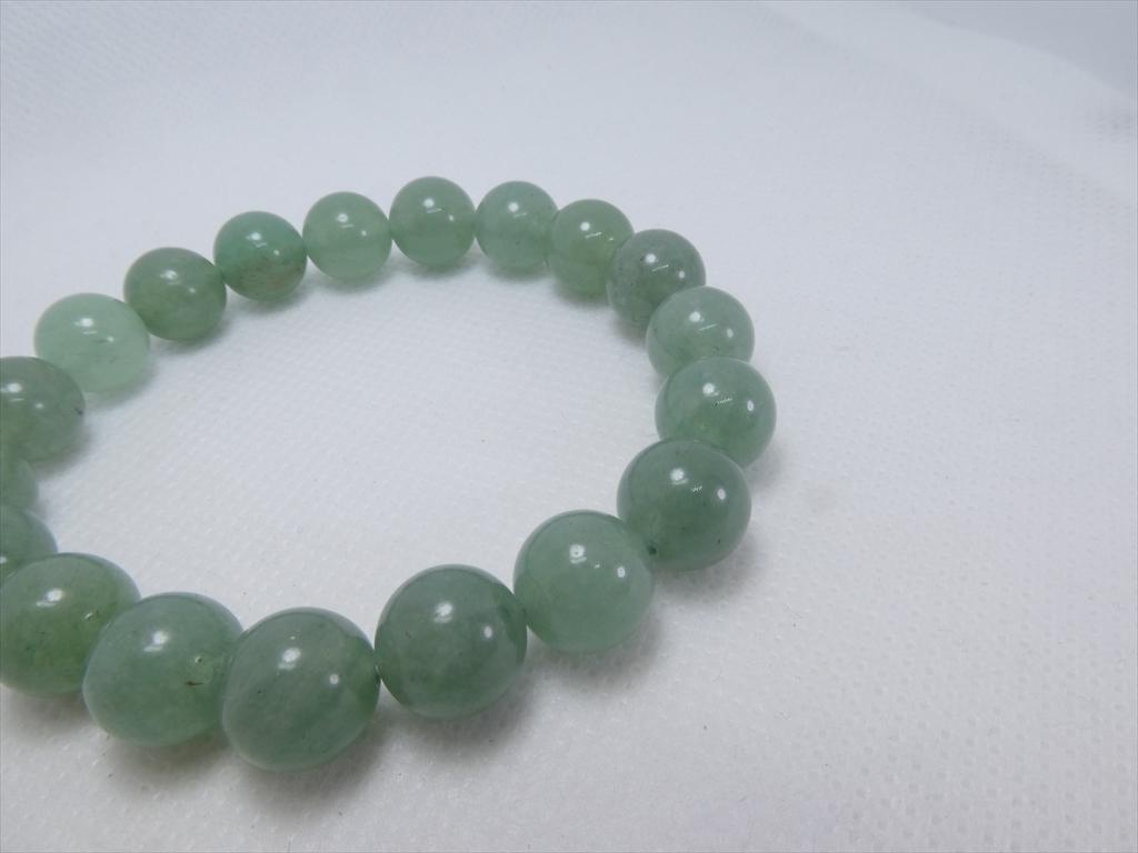 喜心-グリーンアベンチュリン10mm-内径16cm-天然石ブレスレット_画像2