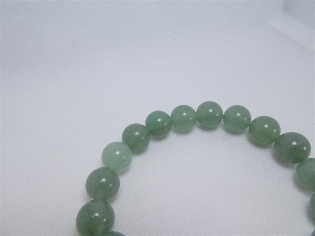 喜心-グリーンアベンチュリン10mm-内径16cm-天然石ブレスレット_画像4