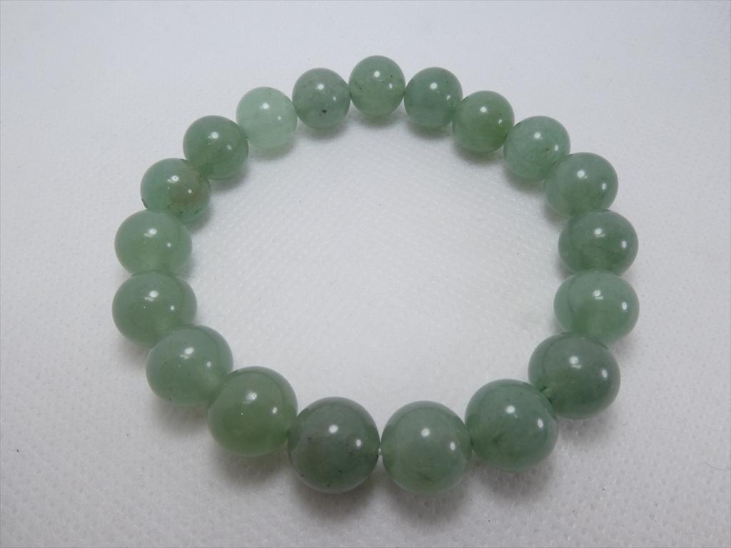 喜心-グリーンアベンチュリン10mm-内径16cm-天然石ブレスレット_画像8