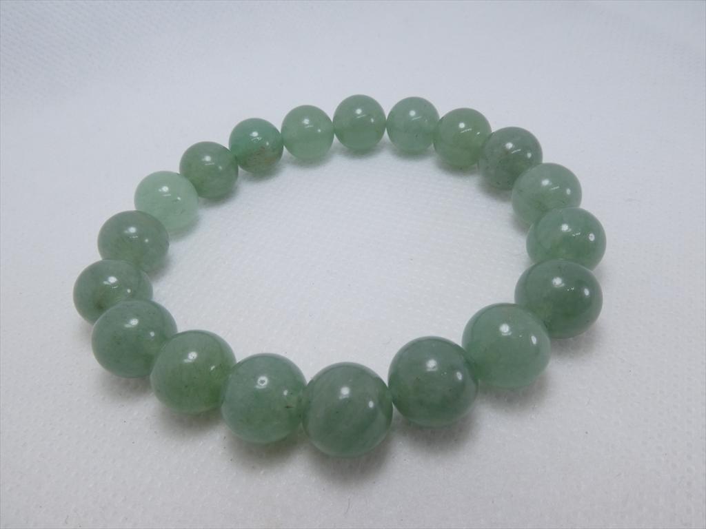 喜心-グリーンアベンチュリン10mm-内径16cm-天然石ブレスレット_画像1
