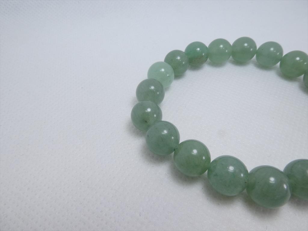 喜心-グリーンアベンチュリン10mm-内径16cm-天然石ブレスレット_画像5
