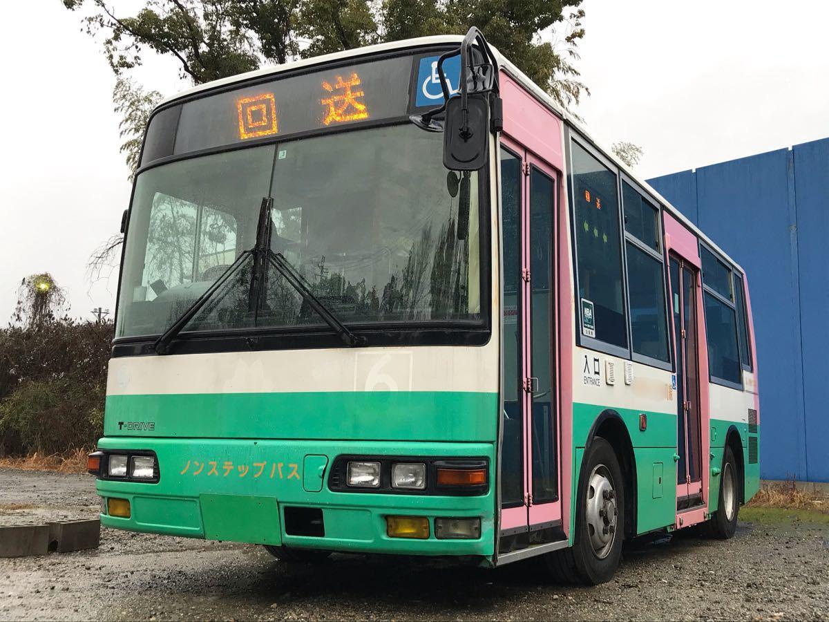 「平成14年式 三菱ふそう エアロミディ 小型ノンステップバス Nox適合!コミュニティバス、自家用バス、移動販売車、ケータリング等 5MT」の画像1