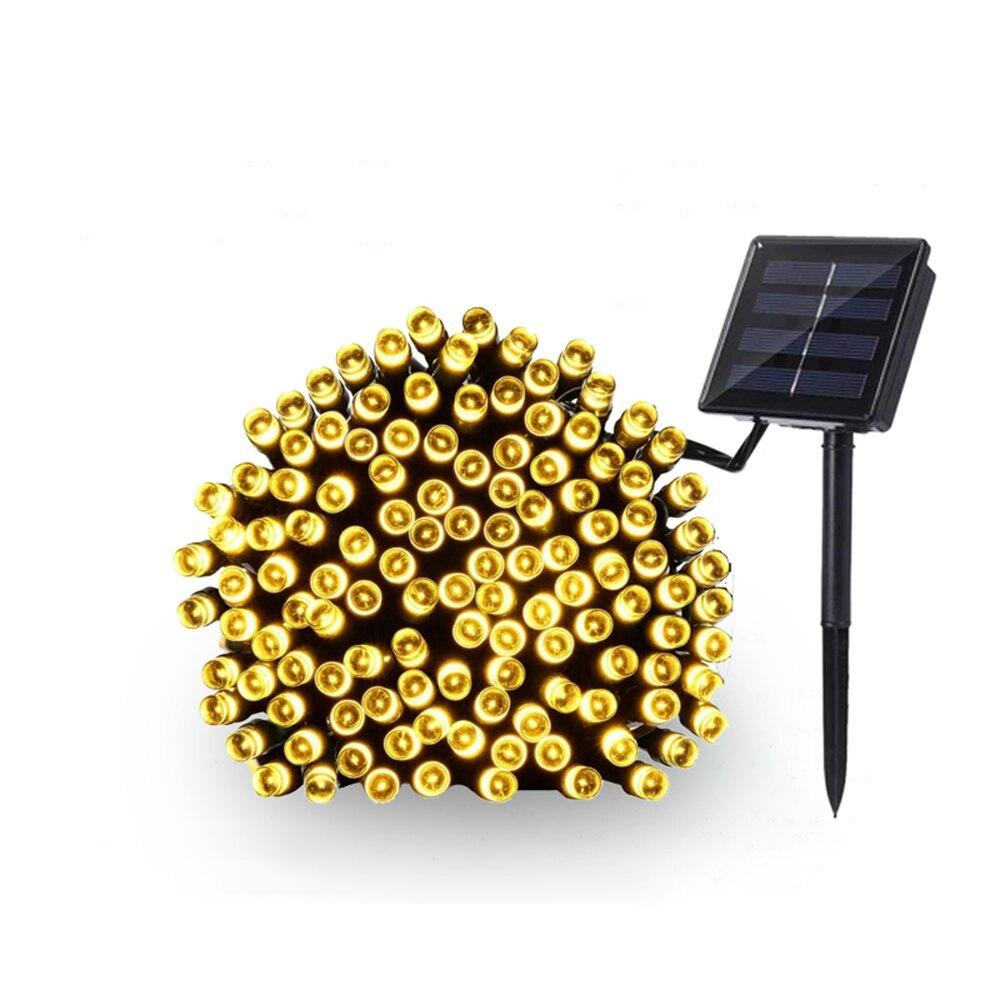 送料無料 新品 装飾 ソーラーライト LED 結婚式 パーティー クリスマス インテリア 照明 屋外用ライト ホワイト マルチカラー_ウォームホワイト