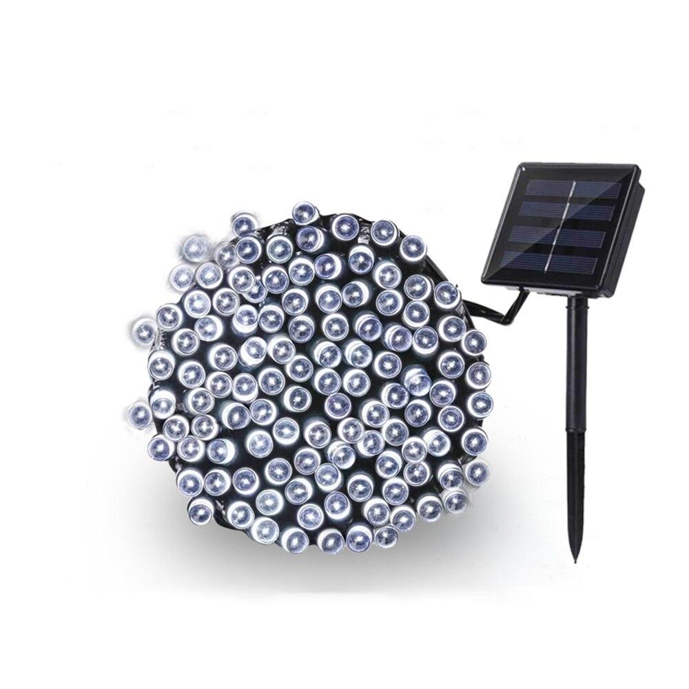 送料無料 新品 装飾 ソーラーライト LED 結婚式 パーティー クリスマス インテリア 照明 屋外用ライト ホワイト マルチカラー_ホワイト