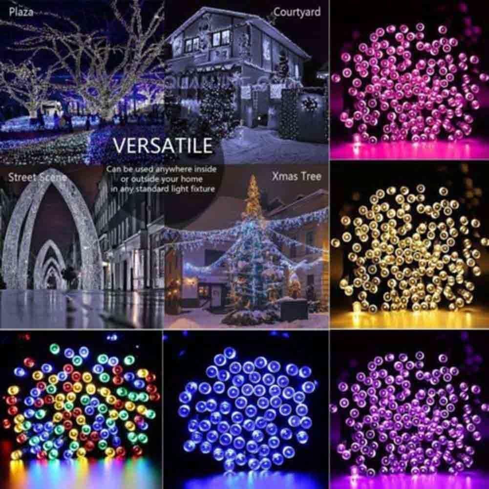 送料無料 新品 装飾 ソーラーライト LED 結婚式 パーティー クリスマス インテリア 照明 屋外用ライト ホワイト マルチカラー_画像9