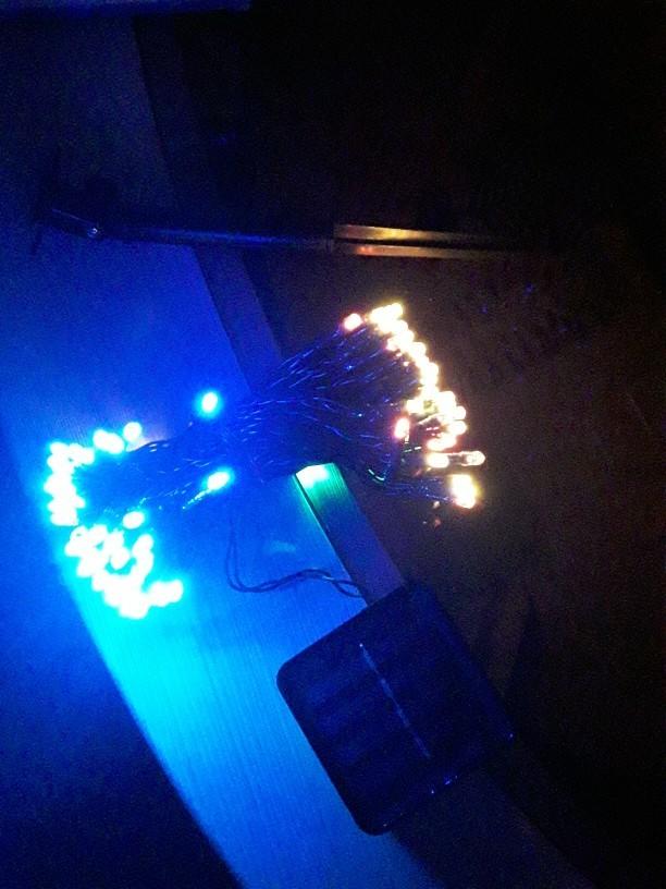 送料無料 新品 装飾 ソーラーライト LED 結婚式 パーティー クリスマス インテリア 照明 屋外用ライト ホワイト マルチカラー_画像10
