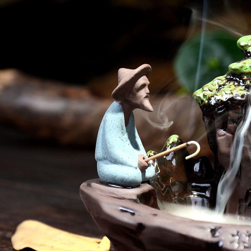 1円スタート 新品 お香置き 逆流香バーナー スティックホルダー 香炉 装飾 インテリア リラクゼーション アロマ スタンド 癒やし_画像4