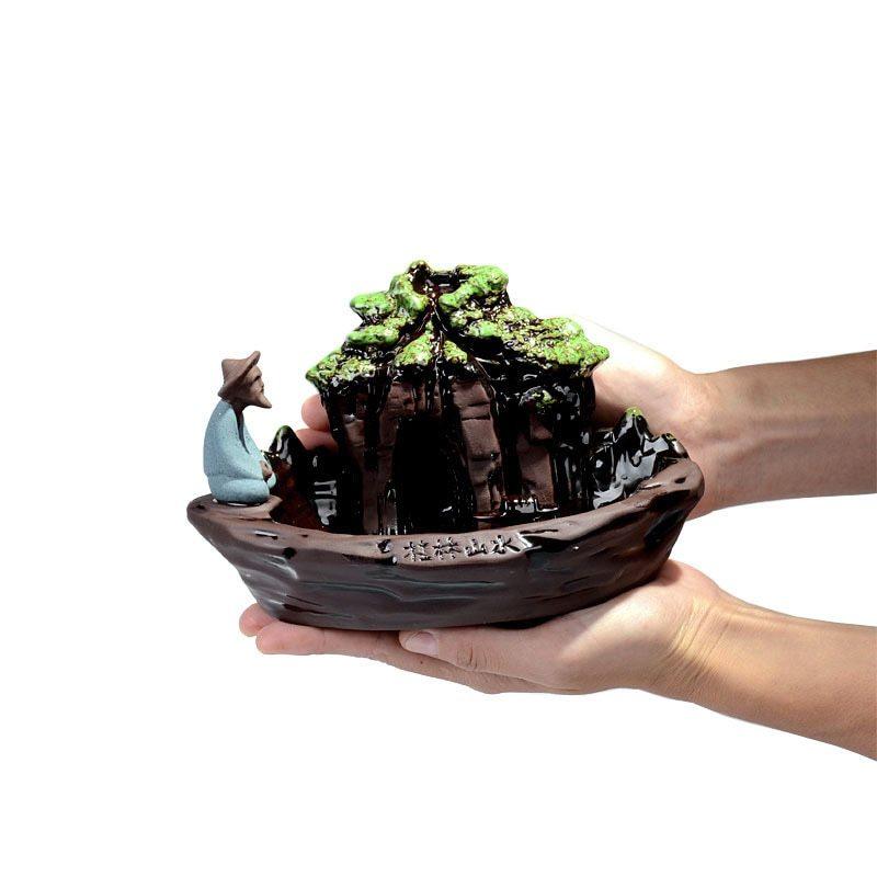 1円スタート 新品 お香置き 逆流香バーナー スティックホルダー 香炉 装飾 インテリア リラクゼーション アロマ スタンド 癒やし_画像3