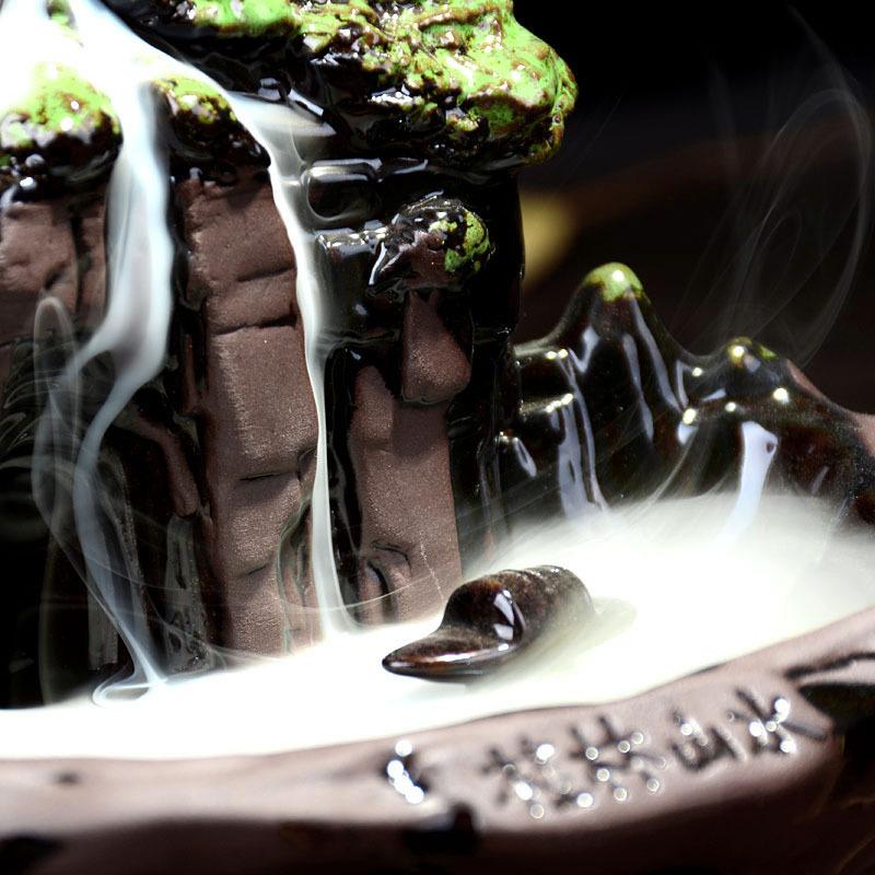 1円スタート 新品 お香置き 逆流香バーナー スティックホルダー 香炉 装飾 インテリア リラクゼーション アロマ スタンド 癒やし_画像5