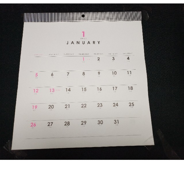 2020年 シンプル カレンダー 壁掛けカレンダー 正方形 ホワイト_画像1